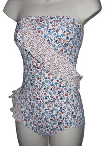 Marc Jacobs NWT RUFFLED FLORAL Frutti Bandeau Maillot SWIMSUIT SZ SMALL