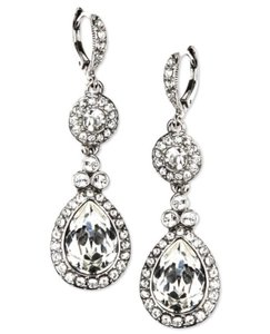 Givenchy Silver Sparkle Dangle Earrings