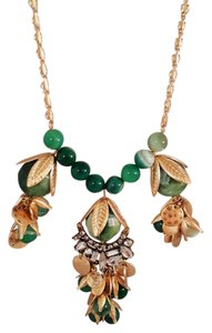 Lydell NYC Ravashing Lydell NYC Gold Plated Green Statement Necklace