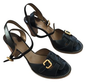Chlo Black with gold buckles Sandals