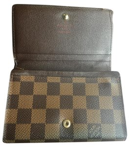 louis vuitton damier ebene porte tresor porte monnaie wallet tradesy. Black Bedroom Furniture Sets. Home Design Ideas