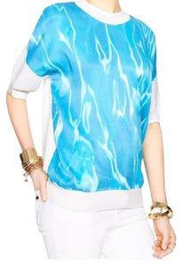 Kate Spade Top white and blue