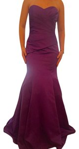 Alfred Angelo Purple Satin Wrapped Bodice Feminine Bridesmaid/Mob Dress Size 16 (XL, Plus 0x)