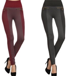 Yelete Legwear cranberry and black Leggings