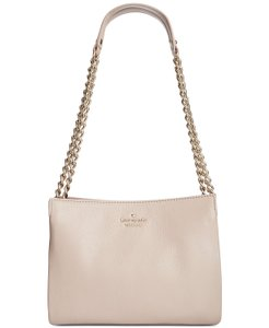 Kate Spade Convertible Crossbody Leather Neutral Shoulder Bag
