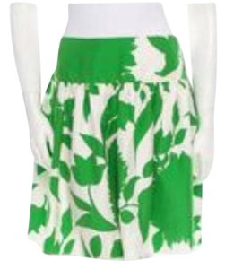 Anna Sui Skirt Kelly green and Ivory