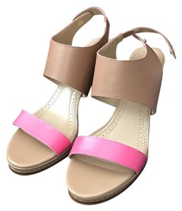 Brooks Brothers pink and brown Sandals