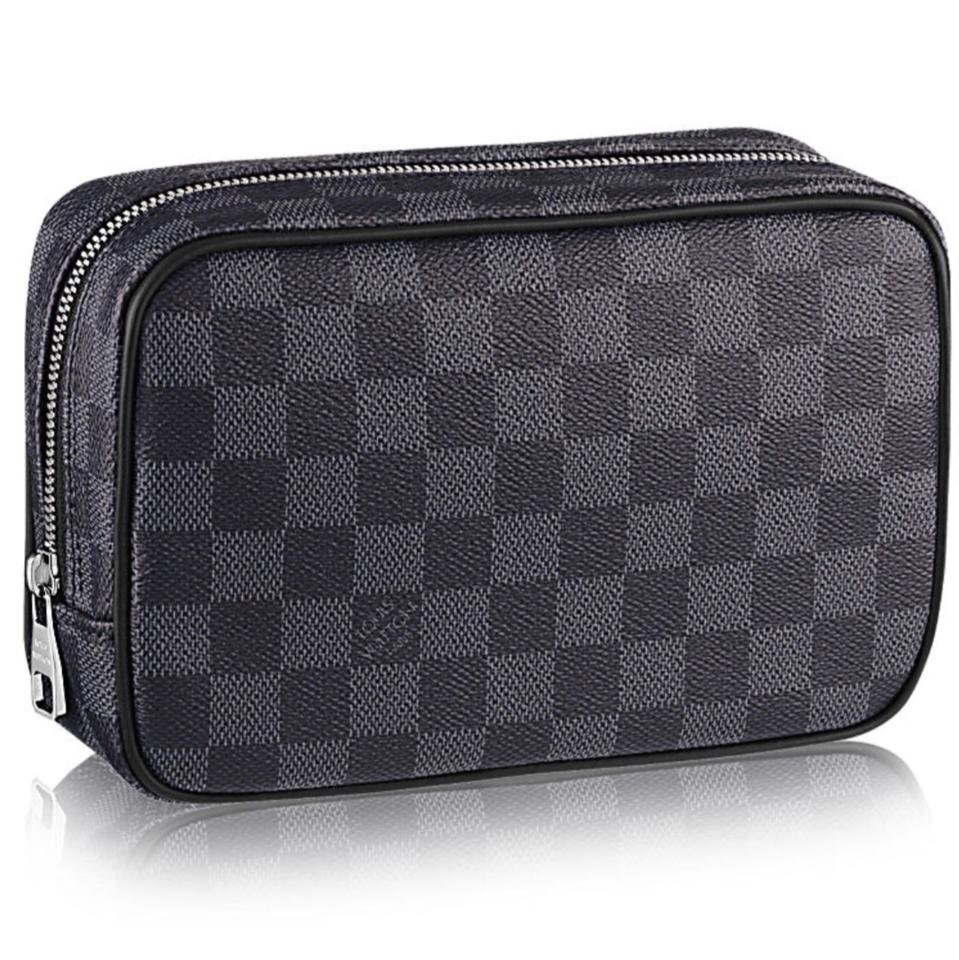 480290a5cd Louis Vuitton Toiletry Pouch Toilet Pm Cosmetic Handbag N47522 Gray Canvas  Clutch 25% off retail