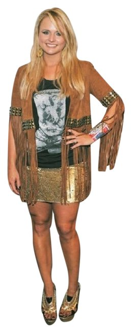 Item - Gold Sequined Silk Skirt Size 4 (S, 27)