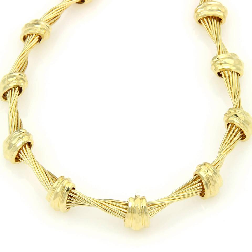 Henry Dunay Designs Yellow Gold 18k Twisted Wire & Hand Hammered ...