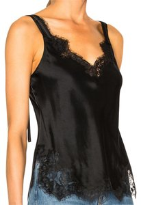 Helmut Lang Lace Satin Camisole Top Black