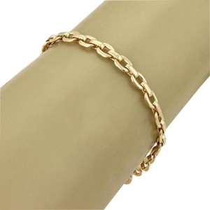 Cartier 18k Yellow Gold Flat Oval Chain Link Bracelet 7.25