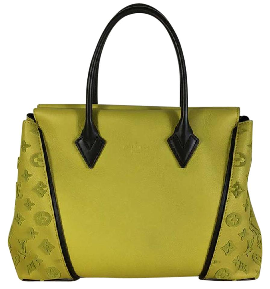 ba0ba89654ee Louis Vuitton W New Pm Tufted Veau Pisache Yellow Leather Tote - Tradesy