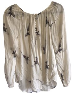 Karen Kane Top white and brown