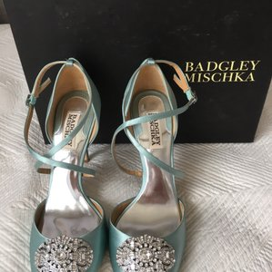 Badgley Mischka Blue Sari Heels Formal Size US 8.5 Regular (M, B)