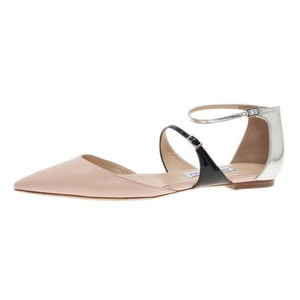Jimmy Choo Ballerina Tri Color Pointed Toe Black black/silver/lychee Flats