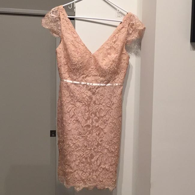 Item - Pink/ Peach Collection Rn12179 Formal Bridesmaid/Mob Dress Size 4 (S)