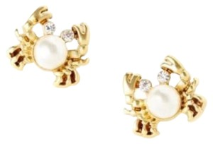 Lilly Pulitzer Adorable Seaside Crab Pearl Earrings