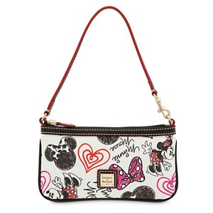 Dooney & Bourke Minnie Mouse Wristlet in White