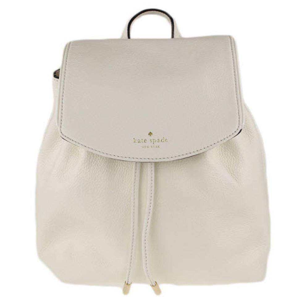 4e54abd70dfd5 Kate Spade Small Breezy Mulberry Street Bicolor White Leather Backpack