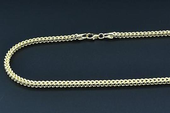 Other 110th,10k,Yellow,Gold,Franco,Box,36,Mens,Chain,3mm,3d,Plain,Hollow,Link