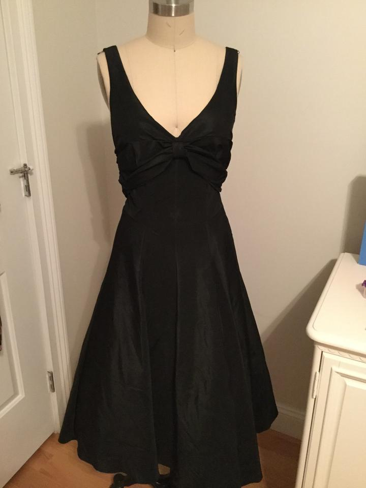 Nicole Miller Black Taffeta and Tull Inside Gown Wedding Dress Size ...