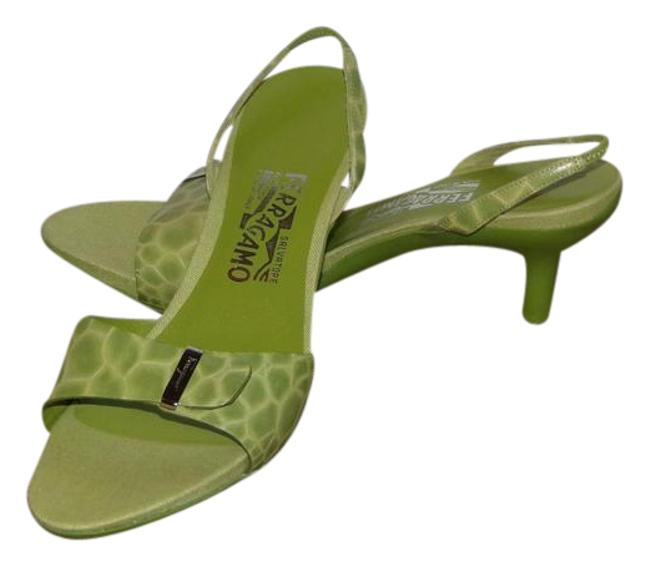 Item - Green Slingback Strappy Ankle Strap Sandals Summer Sneakers Size US 9 Regular (M, B)