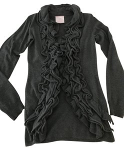 Romeo & Juliet Couture Ruffled Soft Mid-length Comfy Cardigan