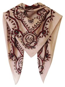 Alexander McQueen printed scarf scull stars ropes