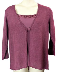 Avenue 2 Piece Shell Plus-size Top Purple