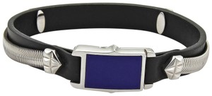 Stephen Webster Alchemy in the UK Sterling Lapis Inlay Clasp Leather Bracelet