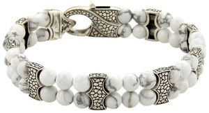 Stephen Webster Rayman Howlite Gems Sterling Double Row Beaded Bracelet