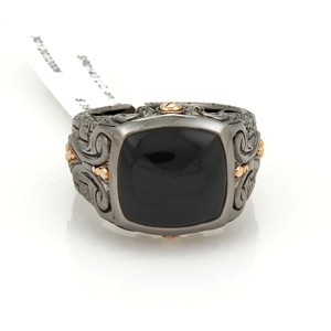 Stephen Webster Sterling Silver Black Rhodium & Rose Gold Onyx Ring
