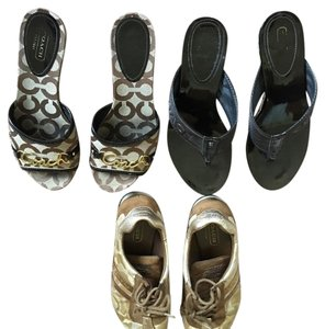 Bundle Of Coach Footwear brown Sandals