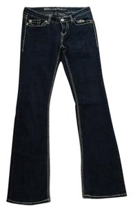Blue Asphalt Boot Cut Jeans-Dark Rinse