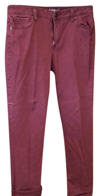 Item - Wine Crimson Burgundy Jeans Pants Size 14 (L, 34)