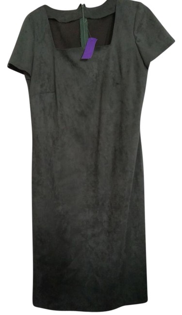 Preload https://img-static.tradesy.com/item/21460797/dark-green-unlined-fake-suede-zipped-fitted-mid-length-workoffice-dress-size-10-m-0-1-650-650.jpg