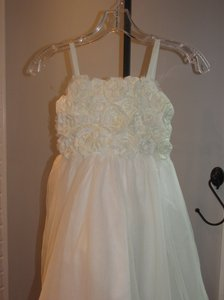 Alfred Angelo Ivory Style 6660-ivory Size 6-flowergirl/Holiday/Pagent 928-40