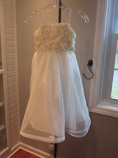 Alfred Angelo Ivory Style 6660-ivory Size 6-flowergirl/Holiday/Pagent 928-40 Image 4