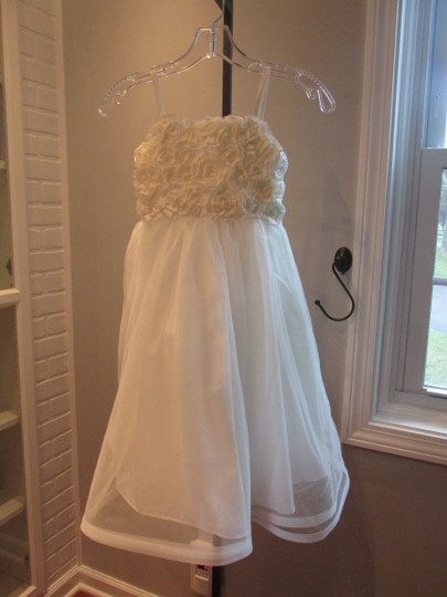 Alfred Angelo Ivory Style 6660-ivory Size 6-flowergirl/Holiday/Pagent 928-40 Image 5