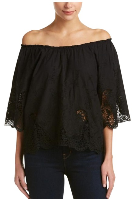 Preload https://img-static.tradesy.com/item/21461077/ella-moss-black-lace-off-shoulder-blouse-size-4-s-0-1-650-650.jpg