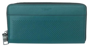Coach Accordion Wallet in Perforated Leather