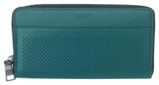 Coach Accordion Wallet in Perforated Leather Image 0