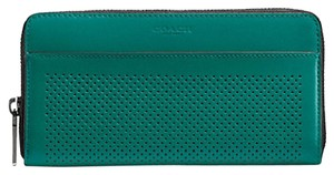 Coach Accordion Perforated Wallet in Perforated Leather