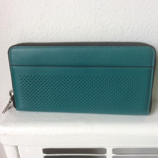 Coach Accordion Perforated Wallet in Perforated Leather Image 3