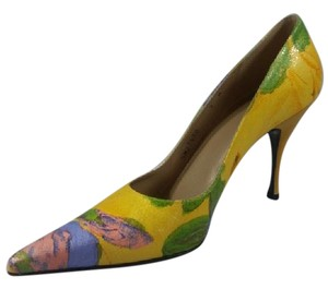 Stuart Weitzman yellow, green, pink and lilac Pumps