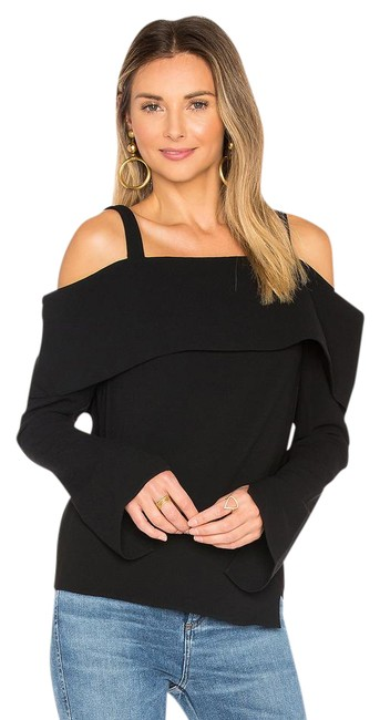 Preload https://img-static.tradesy.com/item/21461496/tibi-black-decollete-v-off-shoulder-cutout-crepe-blouse-size-2-xs-0-1-650-650.jpg