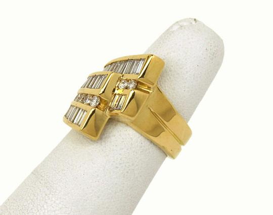 Charles Krypell 2.70tcw Baguette & Round Cut Diamond 18k Yellow Gold Cocktail Ring Image 2