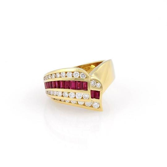 Preload https://img-static.tradesy.com/item/21461795/charles-krypell-yellow-gold-red-ruby-215tcw-diamonds-and-baguette-18k-cocktail-ring-0-0-540-540.jpg