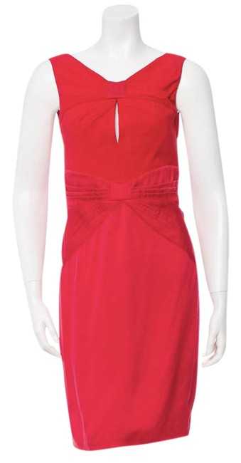 Preload https://img-static.tradesy.com/item/21461813/zac-posen-red-bow-accented-silk-m-short-cocktail-dress-size-8-m-0-1-650-650.jpg